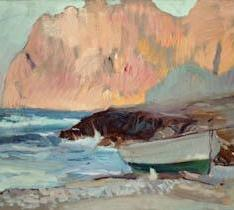 Una barca en la Cala de San Vicente