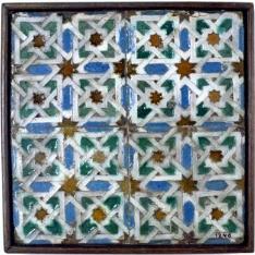 Paño de cuatro azulejos