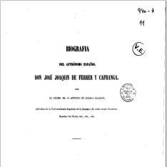 Biografía del astrónomo español José Joaquín de Ferrer y Cafranga