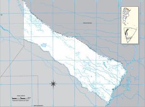 Mapa mudo de Formosa. IGN de Argentina