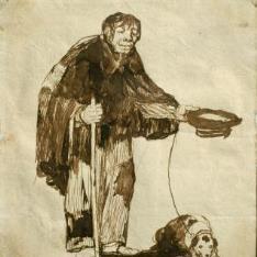 Mendigo ciego con un perro