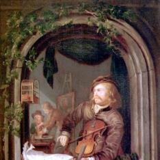 Violinista en la ventana