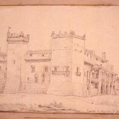 Vista del castillo de Marcilla, Navarra