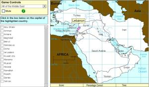 Capitals of Middle East. Expert. Sheppard Software