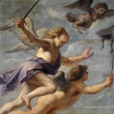 La persecución de las Harpías (las Harpias perseguidas por Gethes y Calays)