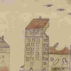 Escena de bombardeo