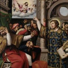 San Esteban acusado de blasfemo