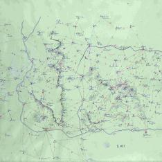 Mapa itinerario militar de parte de la provincia de Gerona