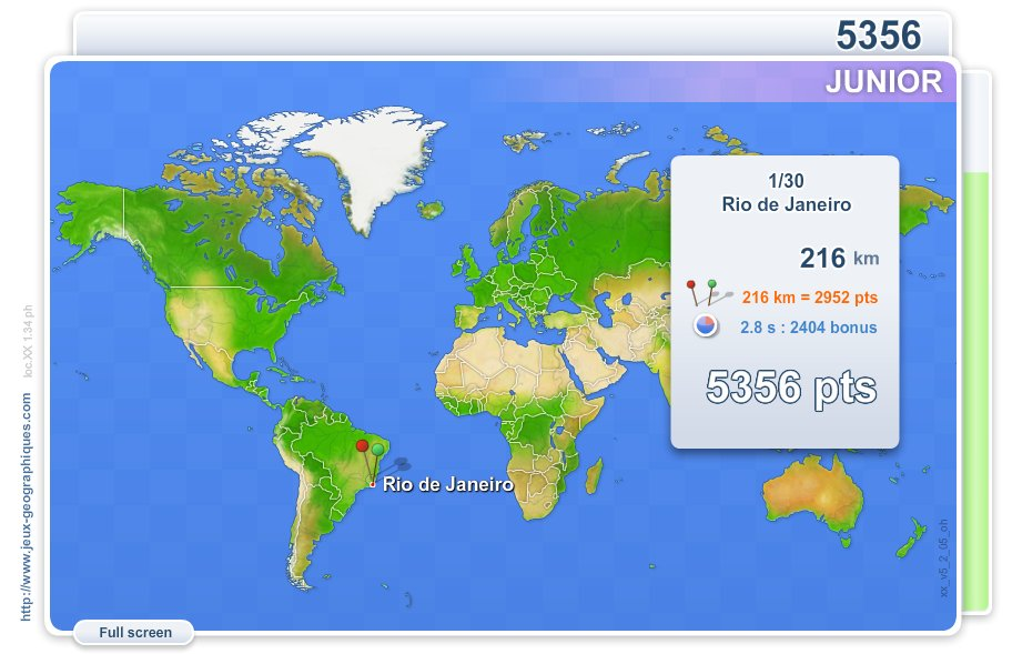 Cities of the world Junior . Geography map games