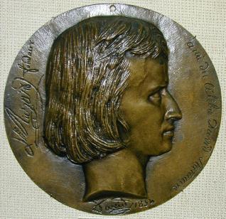 Medallón con el retrato del fundidor Louis Marie Richard