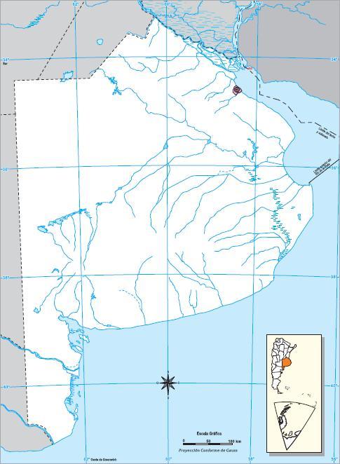 Mapa mudo de Buenos Aires. IGN de Argentina