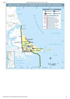 Mapa cultural de Isla Grande de Tierra del Fuego. Mapoteca de Educ.ar