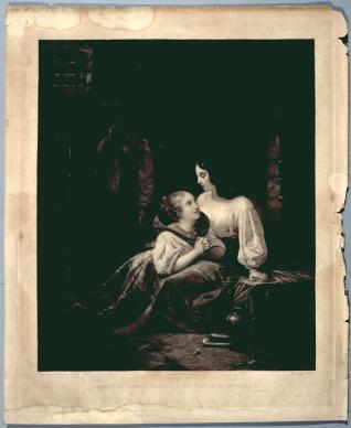 Effie y Jenny en la prisión de Edimburgo. Episodio de la novela de Walter Scott