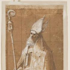 Figura de un obispo (¿Un Padre de la Iglesia?)