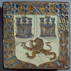 Azulejos por tabla con las armas de la familia Enríquez