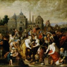 Los israelitas a la salida de  Egipto