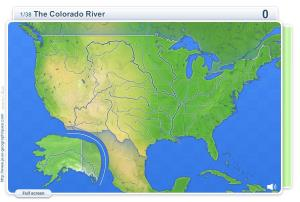 Rivers of USA . Geography map games