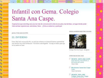 Infantil con Gema. Colegio Santa Ana Caspe.