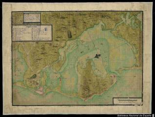 Plano de la Bahía de Cartagena de las Yndias