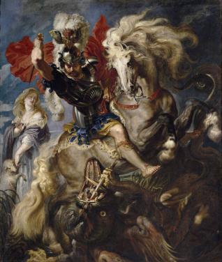 Lucha de San Jorge y el dragón