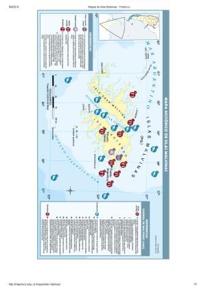 Mapa histórico de las Islas Malvinas. Mapoteca de Educ.ar