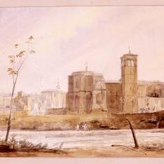 Vista del convento de San Miguel de Huesca