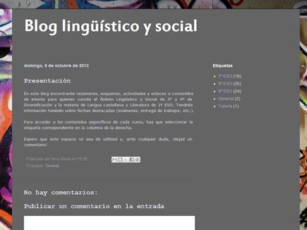 Blog lingüístico y social