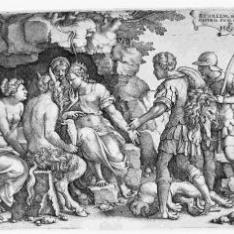Aquiles con Tetis y Quirón