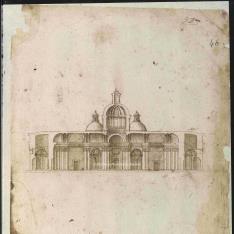 Sección transversal de un templo