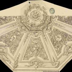 Decoración para el techo de una estancia ochavada