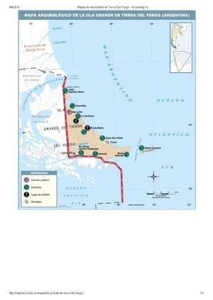 Mapa arqueológico de Isla Grande de Tierra del Fuego. Mapoteca de Educ.ar
