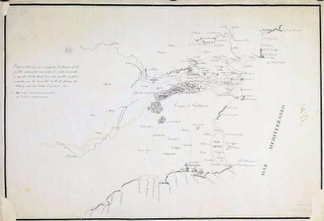 Croquis del mapa que manifiesta los efectos causados por el terremoto de 21 de Marzo de 1829