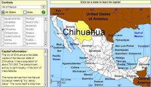 Capitals of Mexico. Tutorial. Sheppard Software