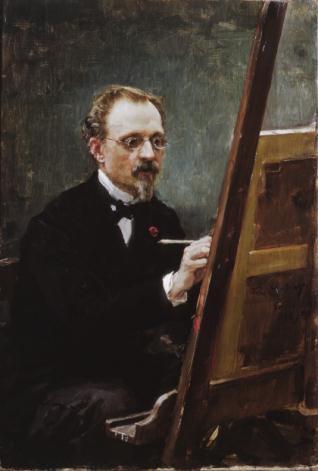 Retrato de Federico de Madrazo pintando