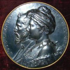 Medalla conmemorativa de José Lázaro y Paula Florido