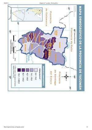 Mapa demográfico de Tucumán. Mapoteca de Educ.ar