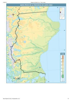 Mapa mudo de ríos de Santa Cruz. Mapoteca de Educ.ar