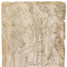 Cinco figuras masculinas desnudas