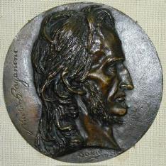 Medallón con retrato de Nicolo Paganini