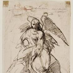 Tobías y el ángel / Escena de un juicio de la historia clásica