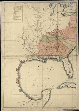 Mapa de los Estados de Virginia, Kentucky, Tennessee, Carolina del ...