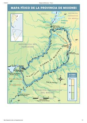 Mapa de ríos de Misiones. Mapoteca de Educ.ar