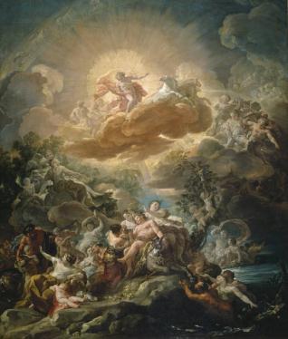 El nacimiento del Sol y el triunfo de Baco