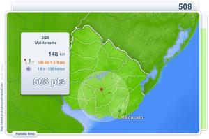 Ciudades de Uruguay. Juegos Geográficos