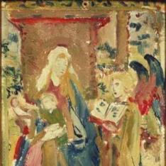 Virgen entronizada con el Niño