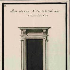 Álbum con  dibujos arquitectónicos de portadas y altares