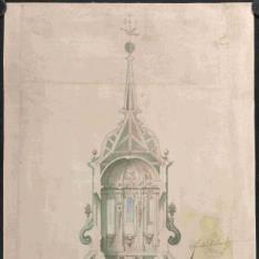 Proyecto para una capilla de Santa Teresa en la iglesia del Convento de Clérigos del Espíritu Santo en Madrid