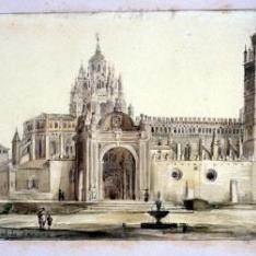 Vista de la catedral de Tarazona, Zaragoza