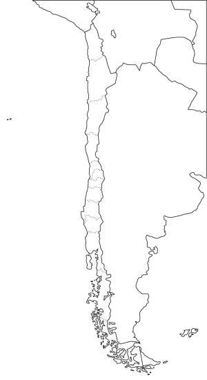Mapa de regiones de Chile. Freemap