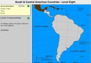 Countries of South and Central America. Geographer. Sheppard Software